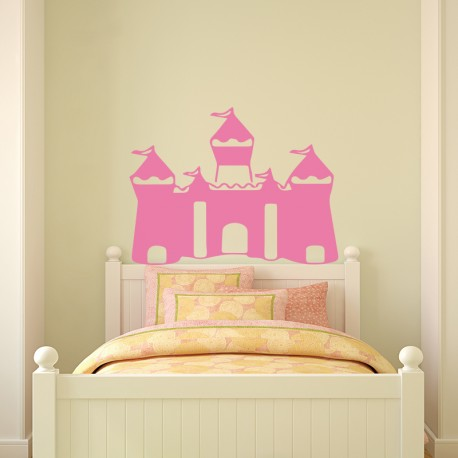 sticker t te de lit ch teau de princesse. Black Bedroom Furniture Sets. Home Design Ideas