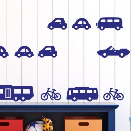 Sticker 20 véhicules de transport - Opensticker, boutique en ligne de stickers muraux idéales pour garder une âme d'enfant !