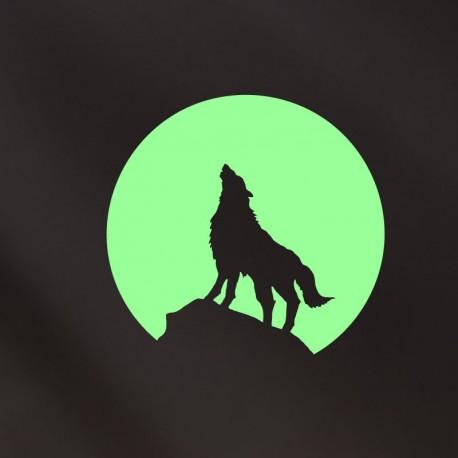 Sticker loup et la lune - Opensticker, boutique en ligne de stickers muraux idéales pour garder une âme d'enfant !