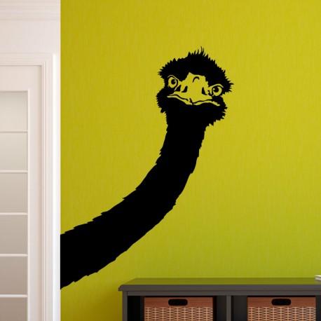 Sticker tête d'autruche - Opensticker, boutique en ligne de stickers muraux idéales pour garder une âme d'enfant !