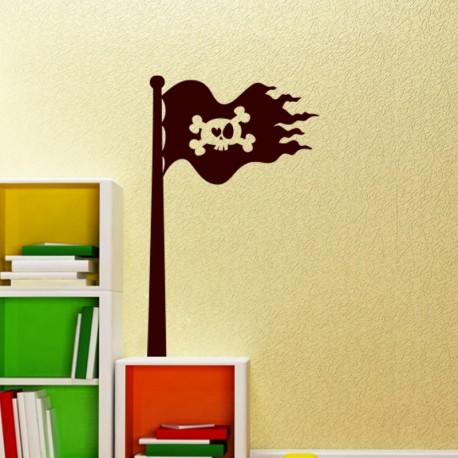 Sticker Design Drapeau pirate - Opensticker, boutique en ligne de stickers muraux idéales pour garder une âme d'enfant !