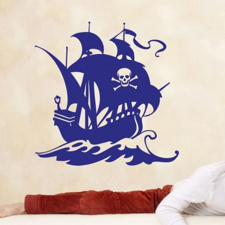 Sticker navire pirate - Opensticker, boutique en ligne de stickers muraux idéales pour garder une âme d'enfant !