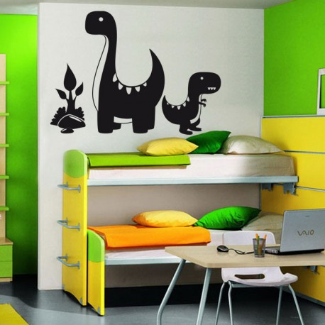 Sticker Famille de Dinosaure - Opensticker, boutique en ligne de stickers muraux idéales pour garder une âme d'enfant !