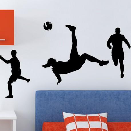 Sticker jeu de footballeurs 3- Opensticker, boutique en ligne de stickers muraux idéales pour garder une âme d'enfant !