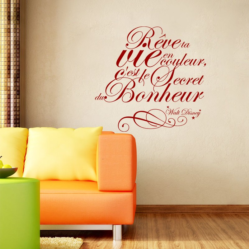 sticker citation r ve ta vie walt disney stickers. Black Bedroom Furniture Sets. Home Design Ideas
