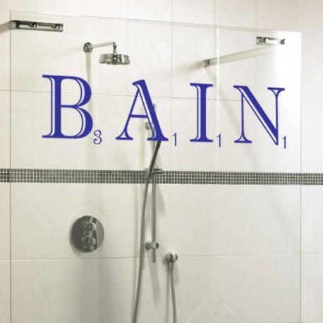 Sticker Bain Scrabble -Opensticker, boutique en ligne de stickers muraux inspirés et inspirant !
