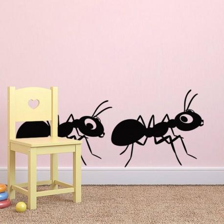 Sticker 2 fourmis-Opensticker, boutique en ligne de stickers muraux idéales pour garder une âme d'enfant !
