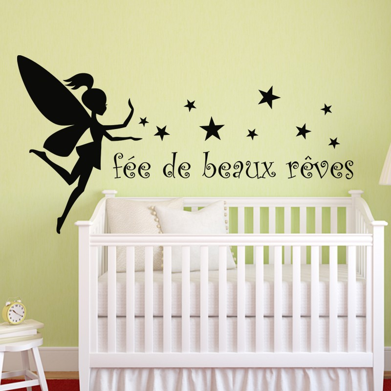 Sticker f e de beaux r ves stickers citation texte - Stickers cuisine enfant ...