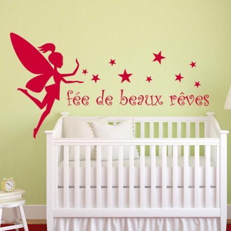 Sticker Fée de beaux rêves-Opensticker, boutique en ligne de stickers muraux idéales pour garder une âme d'enfant !