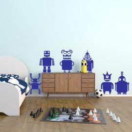Sticker robots fous-Opensticker, boutique en ligne de stickers muraux idéales pour garder une âme d'enfant !