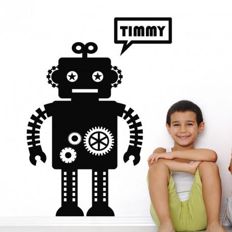 Sticker Timmy le Robot-Opensticker, boutique en ligne de stickers muraux idéales pour garder une âme d'enfant !
