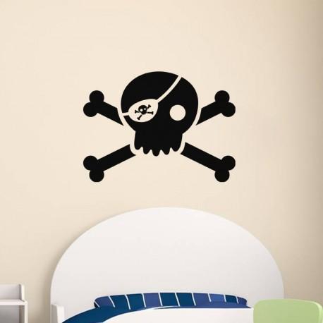 Sticker Tête de mort Pirate-Opensticker, boutique en ligne de stickers muraux idéales pour garder une âme d'enfant !