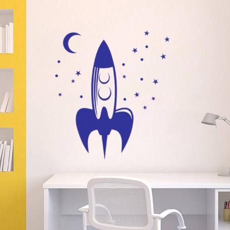 Sticker Fusée-Opensticker, boutique en ligne de stickers muraux idéales pour garder une âme d'enfant !