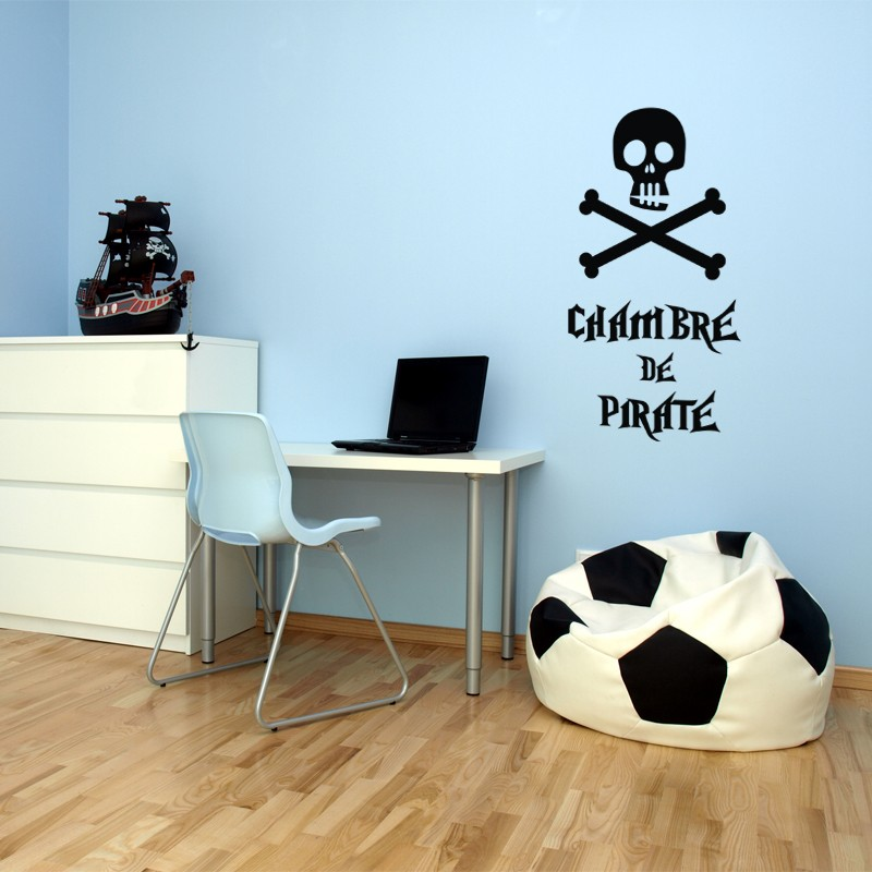 Sticker chambre de pirate stickers citation texte for Stickers muraux citations chambre