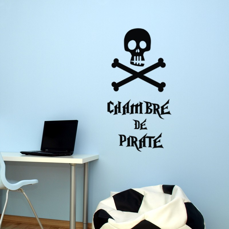 Sticker chambre de pirate stickers citation texte opensticker - Stickers muraux citations chambre ...