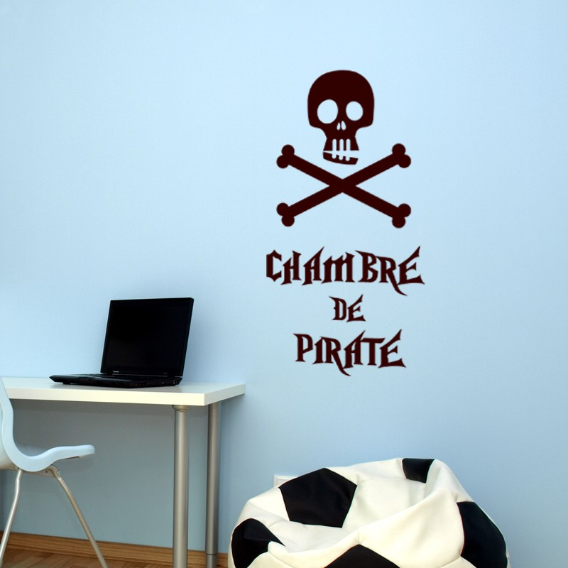 Sticker chambre de pirate stickers citation texte - Stickers muraux chambre garcon ...