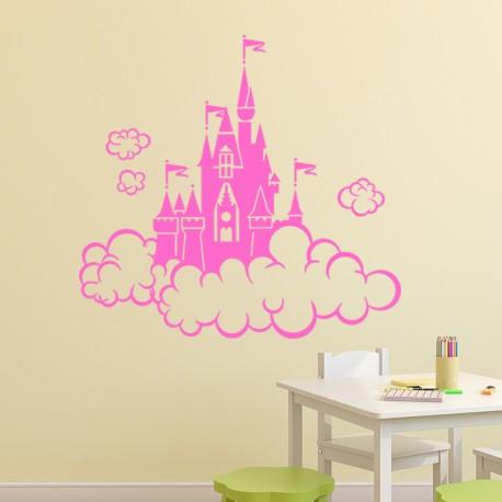 Sticker Château dans les nuages-Opensticker, boutique en ligne de stickers muraux idéales pour garder une âme d'enfant !
