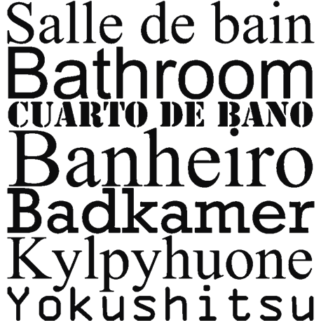 Sticker Salle de bain - stickers citation & texte - opensticker
