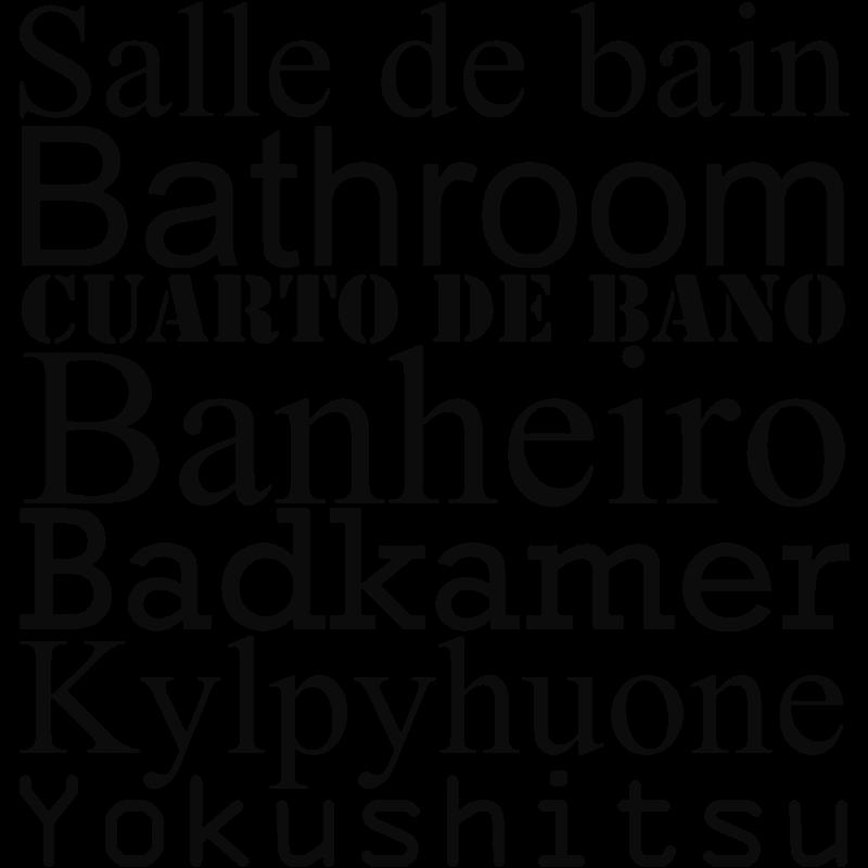 Sticker Salle de bain - stickers citation & texte - opensticker