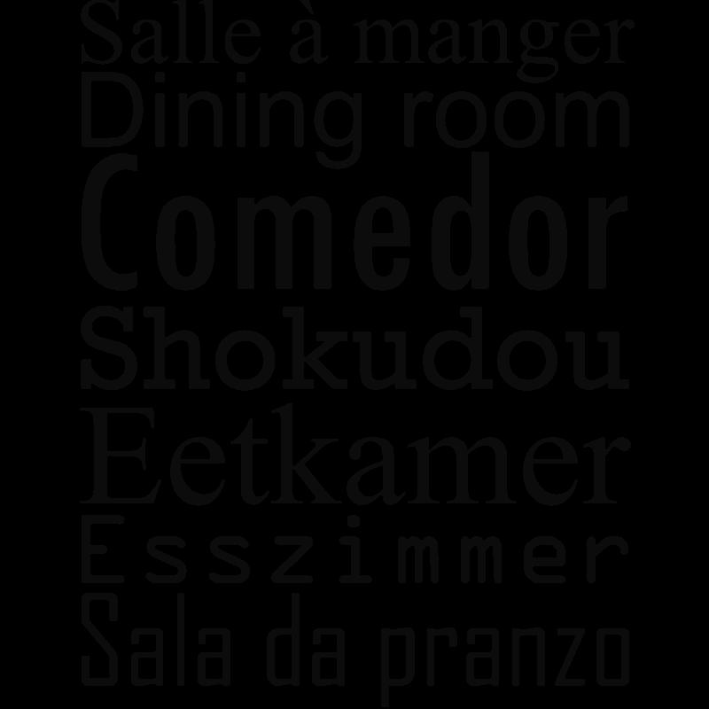 Sticker Salle à manger - stickers citation & texte - opensticker