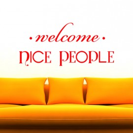Sticker Welcome nice people