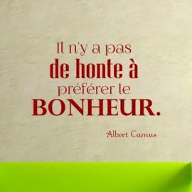 Sticker le bonheur d'après A Camus