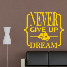 Sticker Never give up
