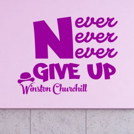 Sticker citation de Winston Churchill