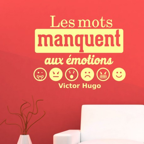 Sticker citation de Victor Hugo