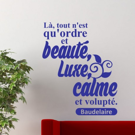 Sticker citation de Baudelaire
