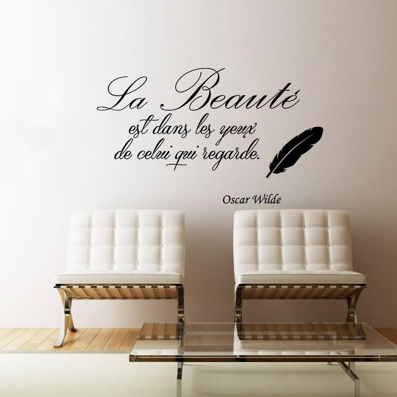 Sticker La beauté selon Oscar Wilde – stickers citation & texte