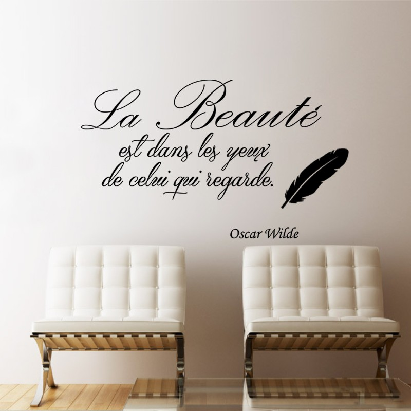 Sticker La beauté selon Oscar Wilde – stickers citation & texte ...