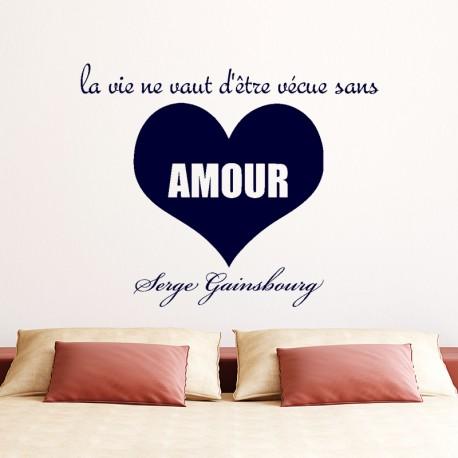 Sticker L'Amour selon Serges Gainsbourg
