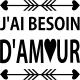 Sticker J'ai besoin d'amour