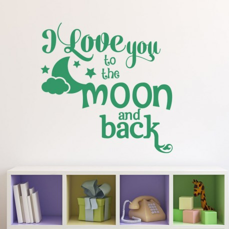 Sticker I love you to the moon
