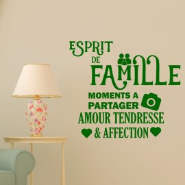 Sticker Esprit de famille