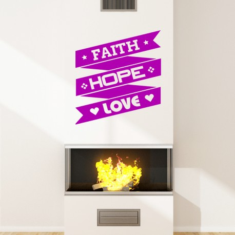 Sticker Faith hope love