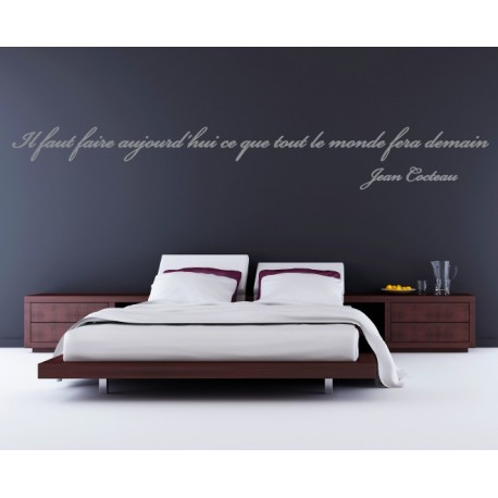 Sticker citation de jean cocteau stickers citation for Stickers phrase chambre adulte