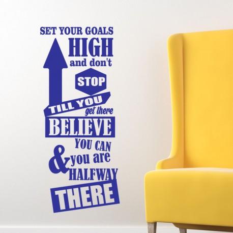 Sticker Set your goals high