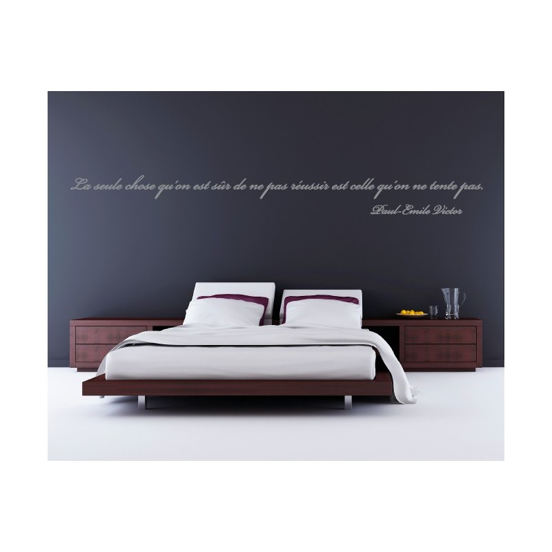 Sticker citation de paul emile victor stickers citation for Stickers muraux pour chambre adulte