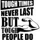 Sticker Tough times