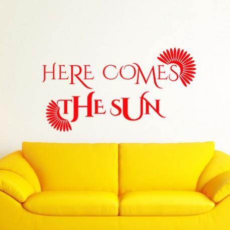 Sticker Here come the sun