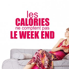Sticker Les calories ne comptent pas le weekend