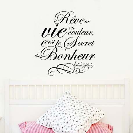 sticker citation r ve ta vie walt disney stickers. Black Bedroom Furniture Sets. Home Design Ideas