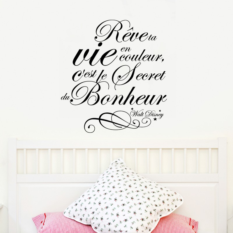 sticker citation r ve ta vie walt disney stickers citation texte opensticker. Black Bedroom Furniture Sets. Home Design Ideas