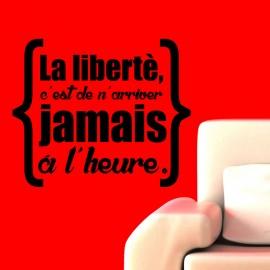 Sticker La liberté