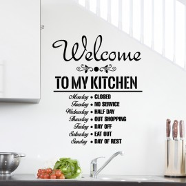 Sticker Welcome to my kitchen