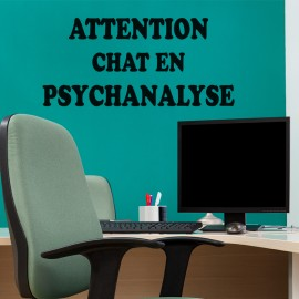 Sticker Attention chat en psychanalyse