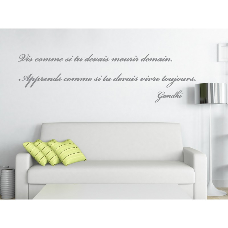 sticker citation de gandhi 1 stickers citation texte opensticker. Black Bedroom Furniture Sets. Home Design Ideas