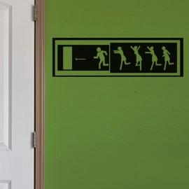 Sticker Homme en fuite